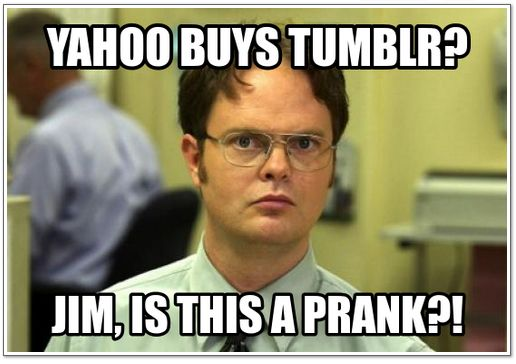 Dwight on Yahoo buying Tumblr